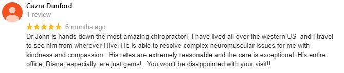 Chiropractic Lehi UH ReFlex Chiropractic Patient Testimonial